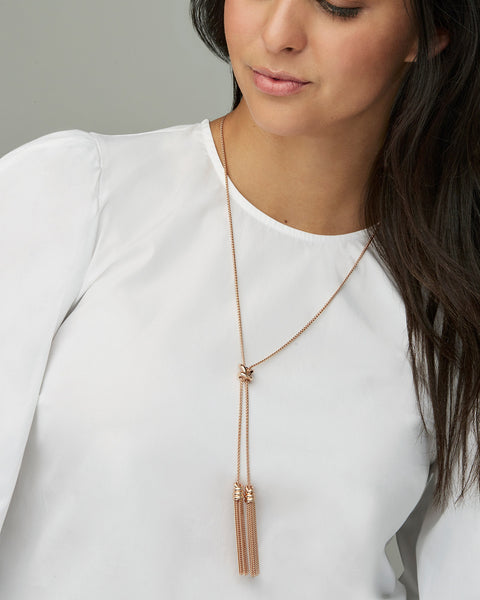 Presleigh Love Knot Y Necklace