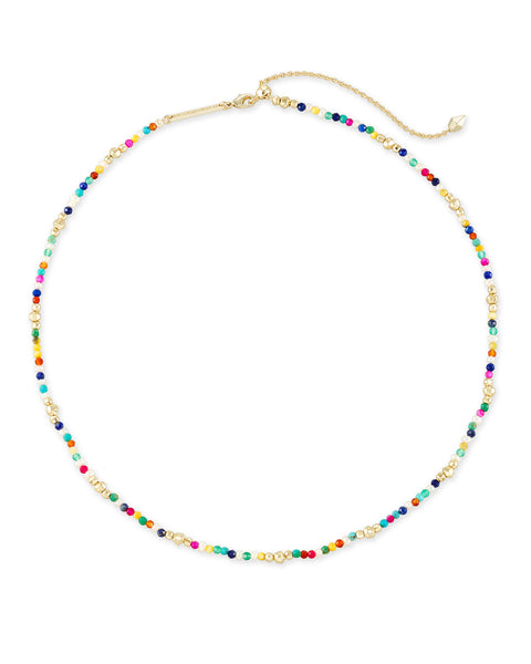 Scarlet Gold Collar Necklace In Multi