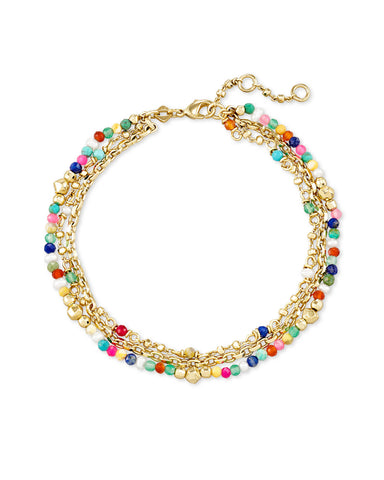 Scarlet Gold Chain Bracelet In Multi