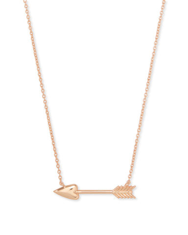 Zoey Rose Gold Pendant Necklace