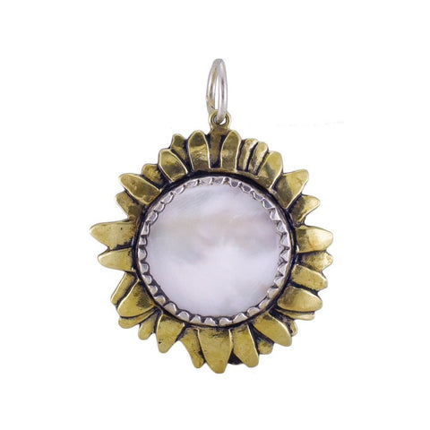 Moon Daisy Large White Pearl Pendant