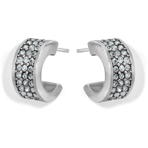 Meridian Zenith Hoop Earrings in Silver