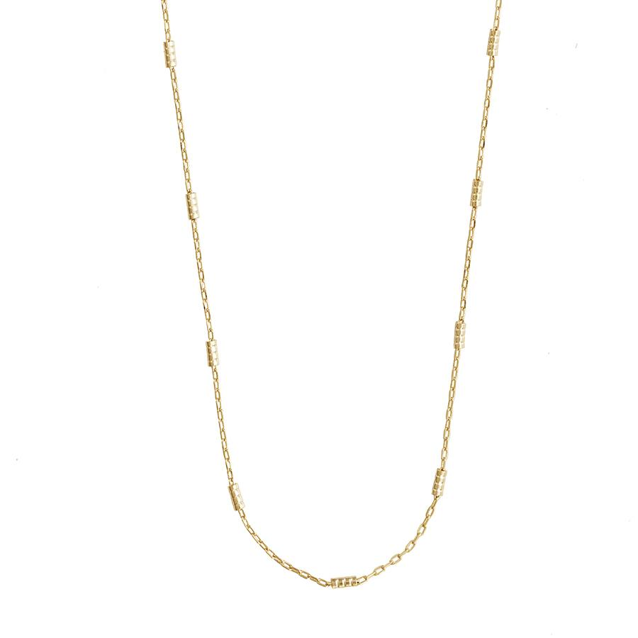 Beaded Bar Chain Necklace