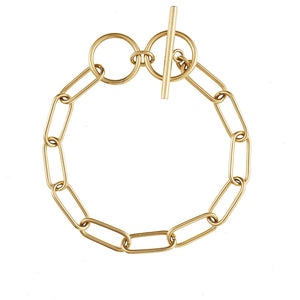 Toggle XL Chain Link Gold Bracelet