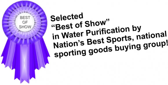 """Best in Show"" award in Water Purification  by Nation's Best Sports"