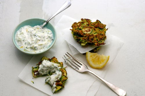Courgette and Mint Rostis