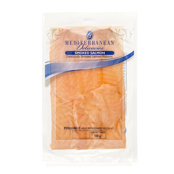 Smoked Salmon 100g - Seafood - Mediterranean Delicacies