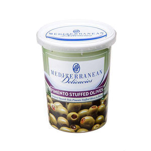 Green Stuffed Pimento Olives 700g - Mediterranean Delicacies