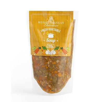 Fresh Vegetable Soup 500g (Frozen) - Soups - Mediterranean Delicacies