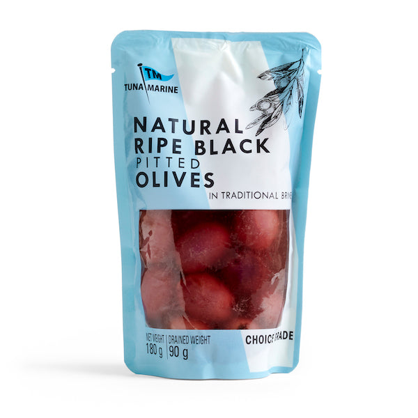 Tuna Marine Black Pitted 180g Olives Halaal, Kosher