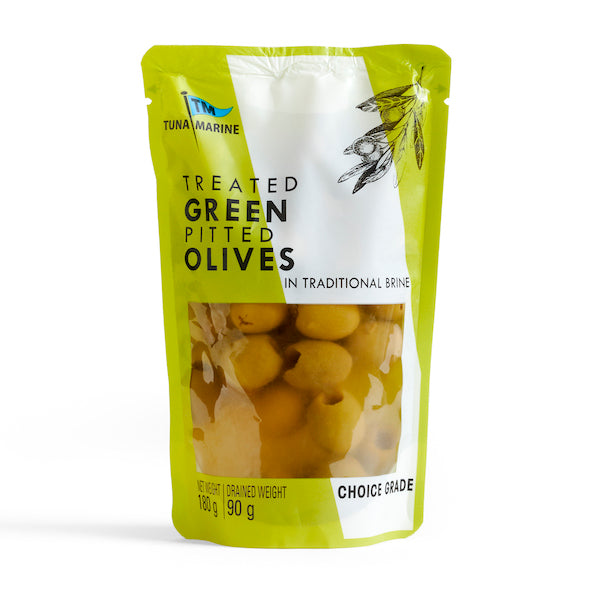 Tuna Marine Pitted Green Olives 180g Olives Halaal