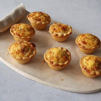 Mini Bacon & Cheese Quiche 12 x 40g - Quiches - Mediterranean Delicacies