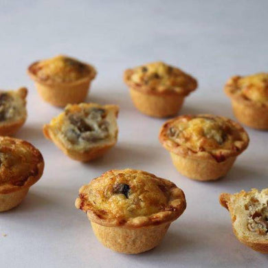 Mini Mushroom Quiche 12 x 40g - Quiches - Mediterranean Delicacies