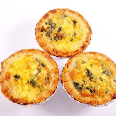 Mini Spinach & Feta Quiche 12 x 40g - Quiches - Mediterranean Delicacies