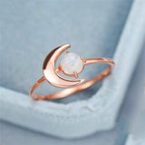 Bague Pierre de Lune Originale Rose