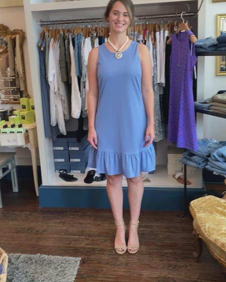 Abbey Glass  Lydia blue dress