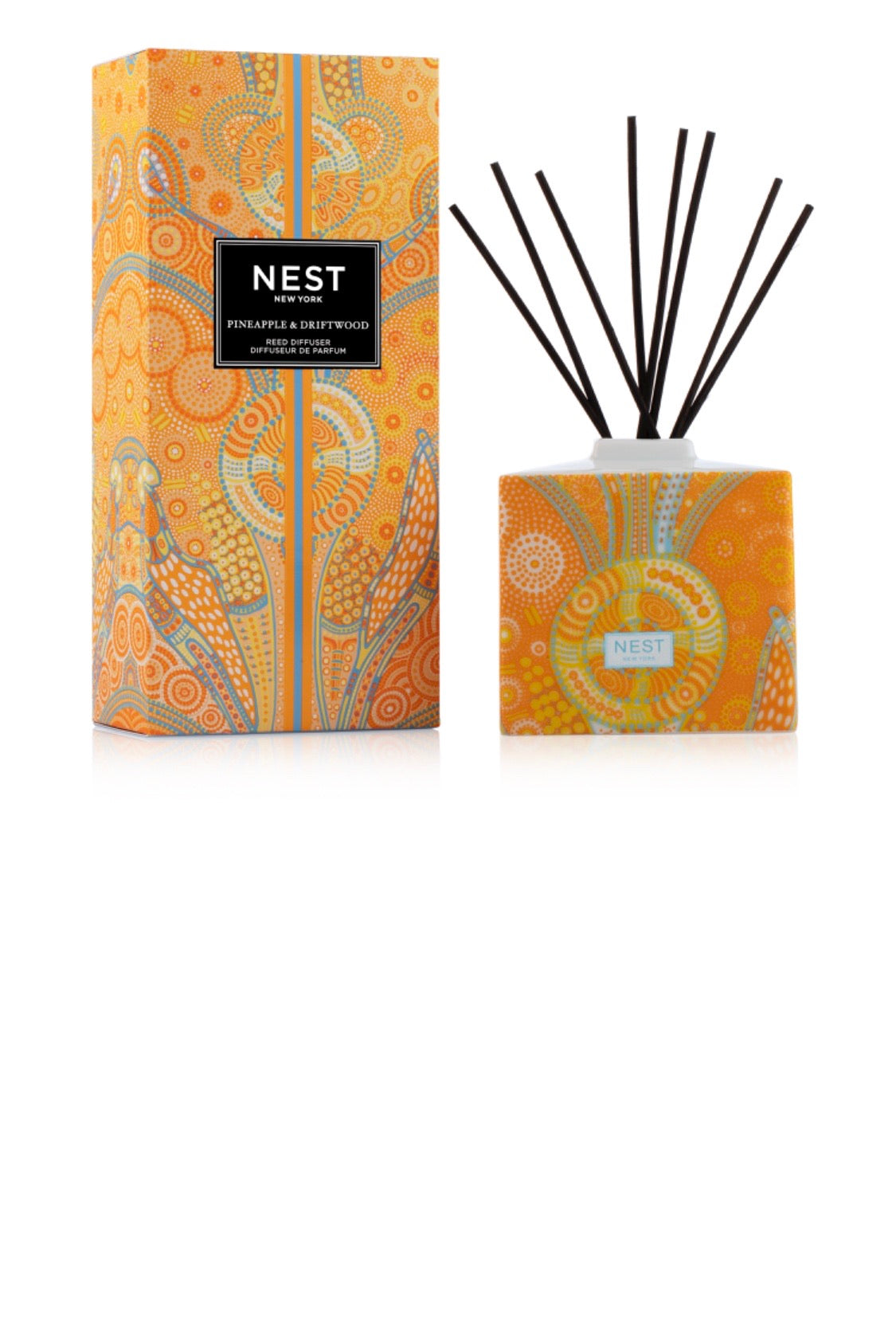 Nest pineapple and driftwood diffuser