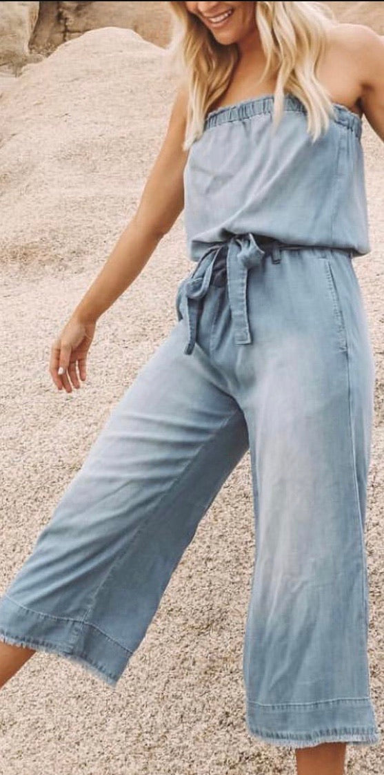 Bella Dahl denim jumpsuit