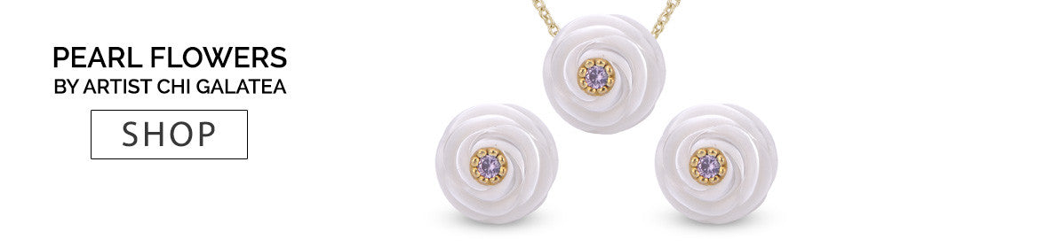 Galatea pearl flower birthstone jewelry