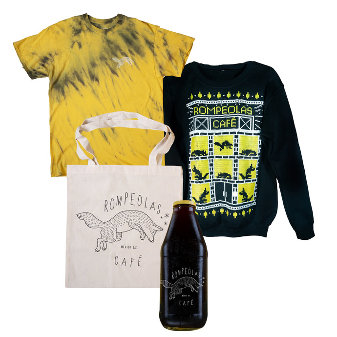 bundle crew neck cold brew tote bag tie dye