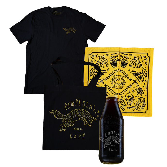 bundle tee tote bag cold brew bandana
