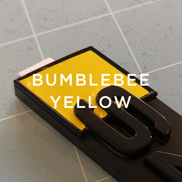 Custom Audi S Boot Badge-stealthbadges-S1-Bumblebee Yellow-stealthbadges