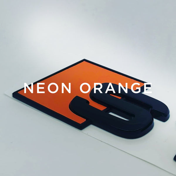 Custom Audi S Boot Badge-stealthbadges-S1-Neon Orange-stealthbadges