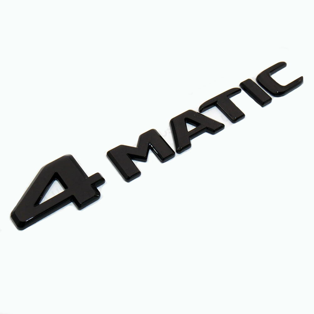 Mercedes Gloss Black 4MATIC Boot Badge-Badge-Mercedes-stealthbadges