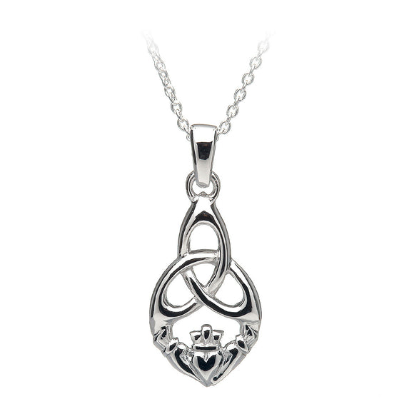 Open Triquetra Claddagh Pendant - Celtic Dawn - Jewellery Arts Crafts & Gifts  - 1