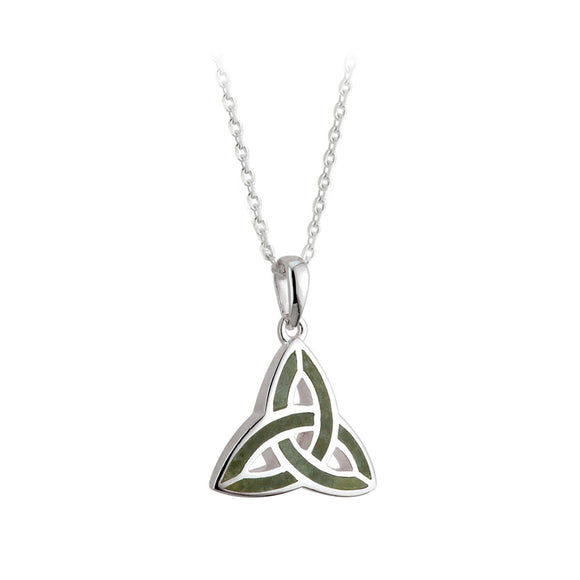 Connemara Marble Triquetra Pendant - Celtic Dawn - Jewellery Arts Crafts & Gifts  - 1