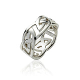 Wide Open Knot Ring - Celtic Dawn - Jewellery Arts Crafts & Gifts - 1