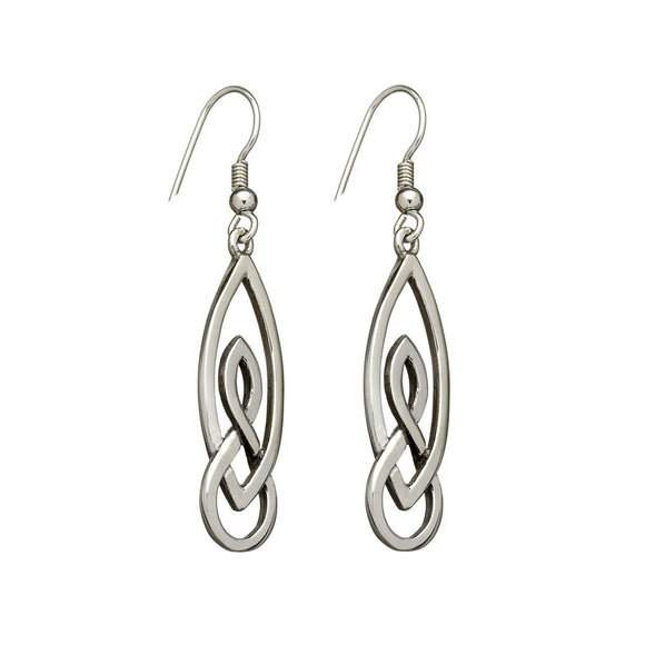 Interwoven Knotwork Drop Earrings - Celtic Dawn - Jewellery Arts Crafts & Gifts  - 1