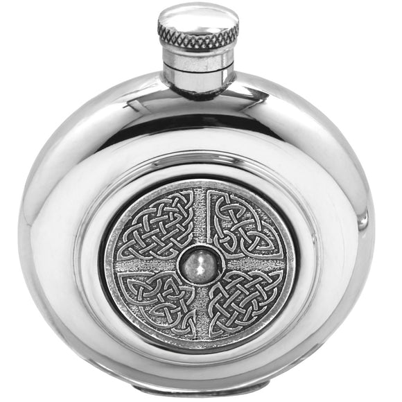 6oz Knotwork Circular Hip Flask