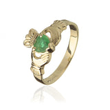 Traditional Emerald Claddagh Ring - Celtic Dawn - Jewellery Arts Crafts & Gifts - 1