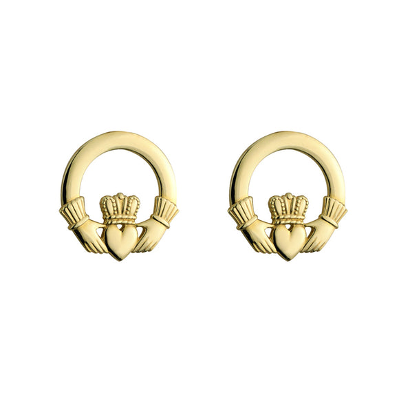 Claddagh Stud Earrings