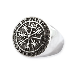Viking Rune Compass Ring
