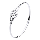 Double Triquetra Open Knot Bangle