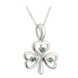 Emerald Shamrock Pendant - Celtic Dawn - Jewellery Arts Crafts & Gifts  - 2