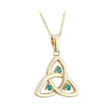 Emerald Triquetra Pendant - Celtic Dawn - Jewellery Arts Crafts & Gifts  - 1