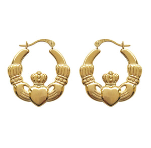 Claddagh Hoop Earrings