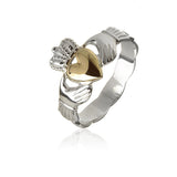 Solid Gold Heart Claddagh Ring