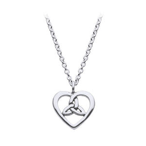Heart Shaped Triquetra Pendant (Small)
