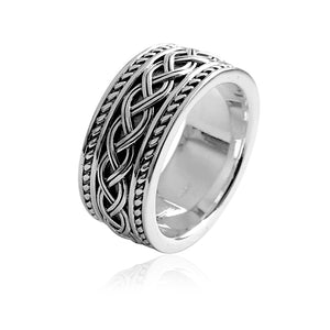 Triple Weave Solid Knot Ring (Gents)