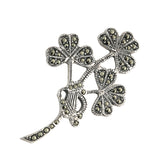 Marcasite Shamrock Brooch - Celtic Dawn - Jewellery Arts Crafts & Gifts  - 1