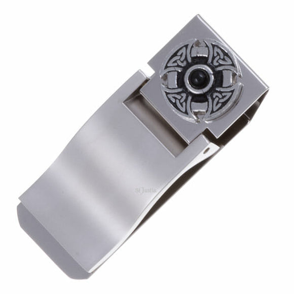 Circular Celtic Cross Gemstone Money Clip
