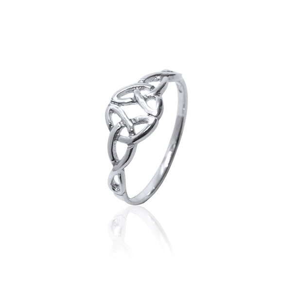 Open Double Triquetra Ring