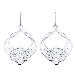Open Interlaced Knotwork Drop Earring