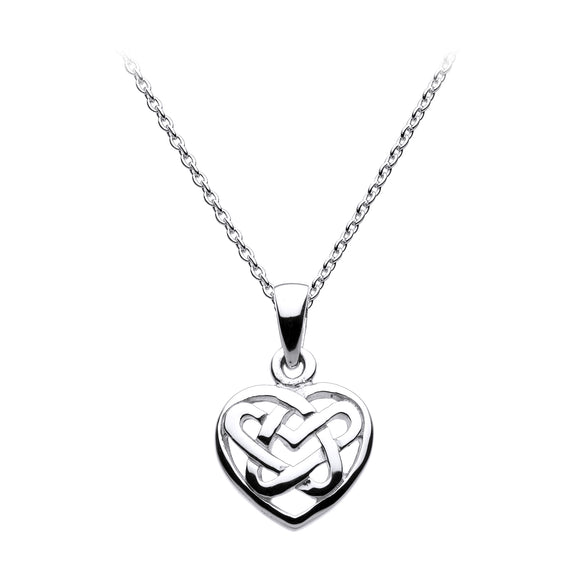 Open Love Knot Heart Shaped Pendant