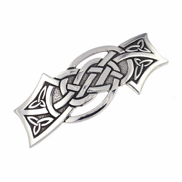 Knotwork Triquetra Hair Slide