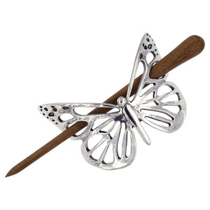 Butterfly Hair Slide (Wooden Pin)